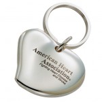 Heart Shaped engraved Key Ring