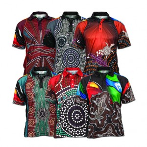 Sublimated Indigenous polo and shirts