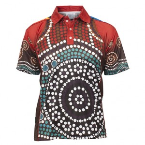 Sublimated Aboriginal and Torres strait Islander Polo Style 23890