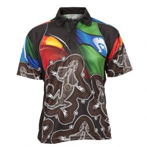 Sublimated Aboriginal and Torres strait Islander Polo Style 23891